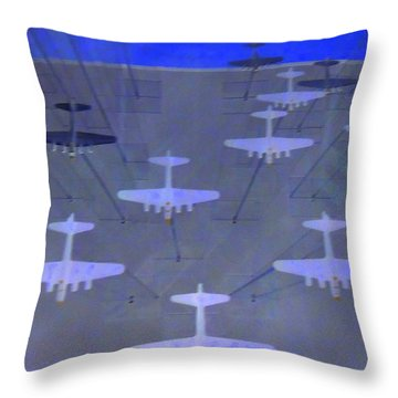 Airplanes 1 Throw Pillow by Randall Weidner