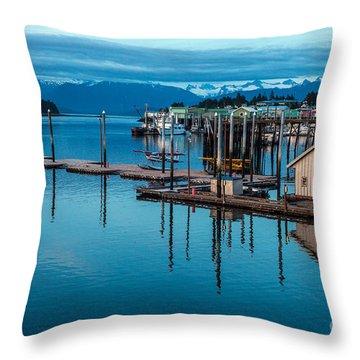 Alaska Seaplanes Throw Pillow by Mike Reid