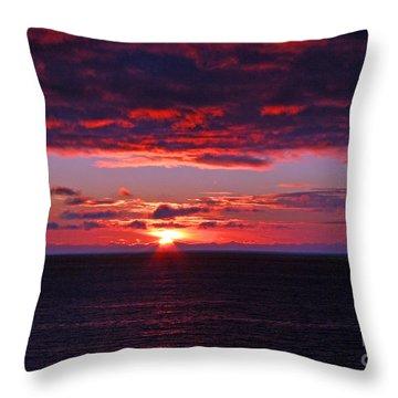 Alaskan Sunset Throw Pillow by Bob Hislop