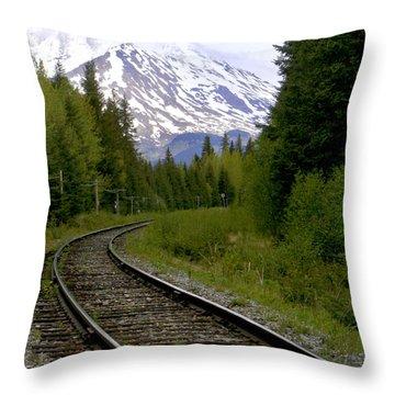 Alaskan Tracks Throw Pillow by Art Block Collections