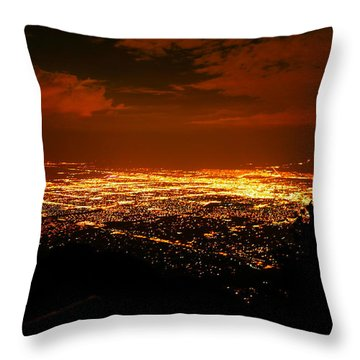 Albuquerque New Mexico  Throw Pillow by Jeff Swan