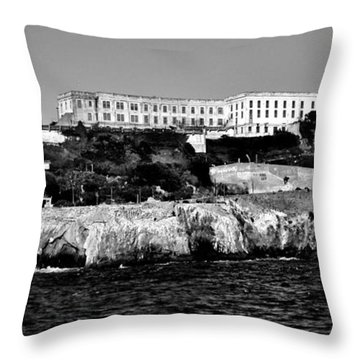 Alcatraz Federal Prison Throw Pillow by Benjamin Yeager