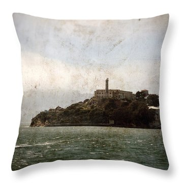 Alcatraz Island Throw Pillow by RicardMN Photography