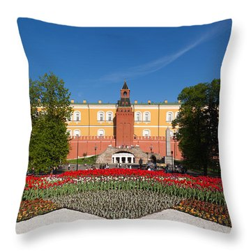 Alexander Garden And Arsenal Walls Throw Pillow by Panoramic Images