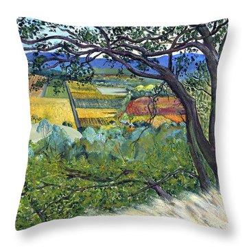 Alexander Valley Vinyards Throw Pillow by Asha Carolyn Young
