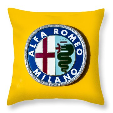 Alfa Romeo Emblem Throw Pillow by Jill Reger