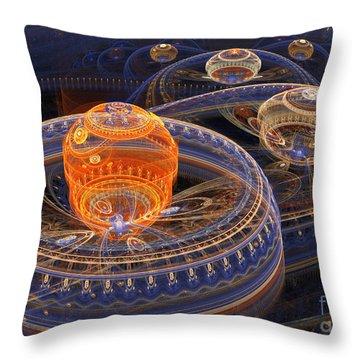 Alien Landscape Throw Pillow by Martin Capek