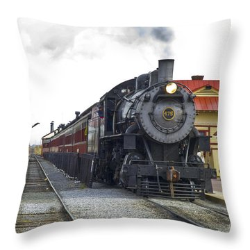 All Aboard Throw Pillow by Paul W Faust -  Impressions of Light