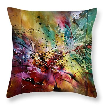 'all At Once' Throw Pillow by Michael Lang