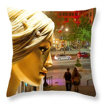 All Dressed Up And No Place To Go Throw Pillow by Chuck Staley