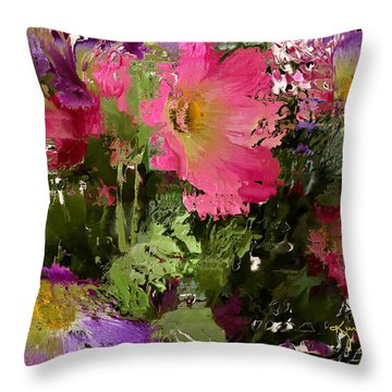 All The Flower Petals In This World 3 Throw Pillow by Kume Bryant