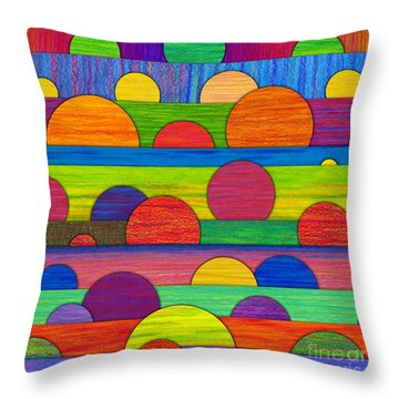 All Tucked In Throw Pillow by David K Small