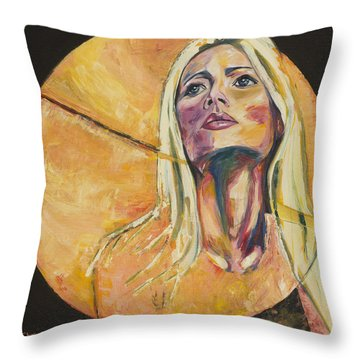 All Yellow Throw Pillow by Christel  Roelandt