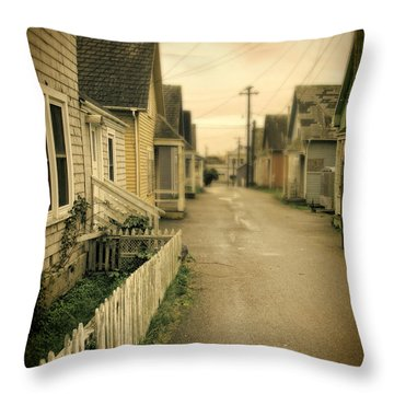 Alley And Abandoned Houses Throw Pillow by Jill Battaglia