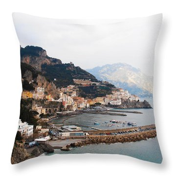 Amalfi Italy Throw Pillow by Pat Cannon