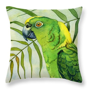 Amazon Throw Pillow by Lyse Anthony