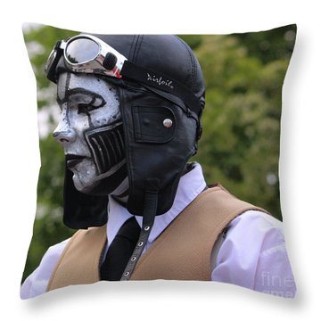 Amelia Earhart Steam Punk Throw Pillow by Kym Backland