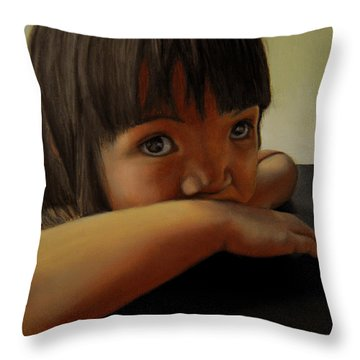 Amelie-an 7 Throw Pillow by Thu Nguyen