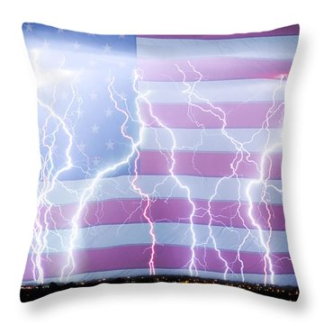 America The Powerful Throw Pillow by James BO  Insogna