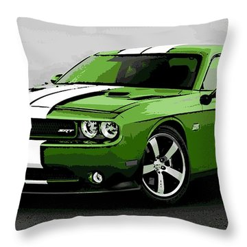 American Muscle Throw Pillow by George Pedro