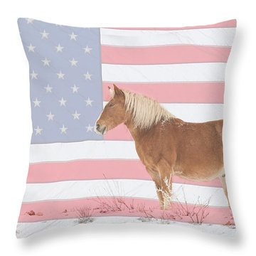 American Palomino Throw Pillow by James BO  Insogna