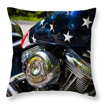 American Ride Throw Pillow by Adam Romanowicz
