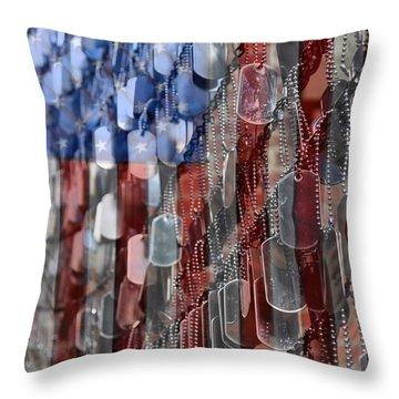 American Sacrifice Throw Pillow by DJ Florek