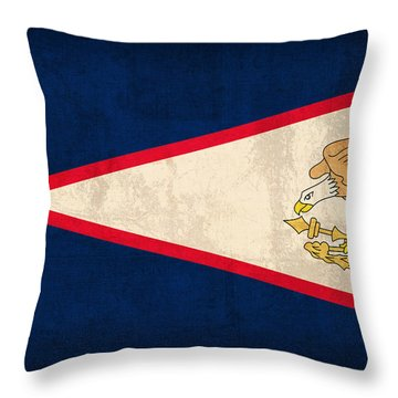 American Samoa Flag Vintage Distressed Finish Throw Pillow by Design Turnpike
