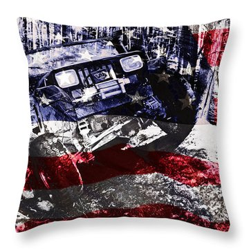 American Wrangler Throw Pillow by Luke Moore