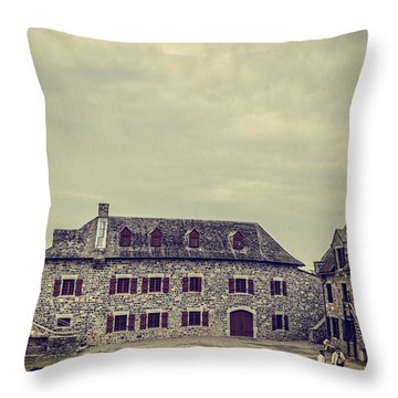 Fort Ticonderoga Throw Pillow by Edward Fielding