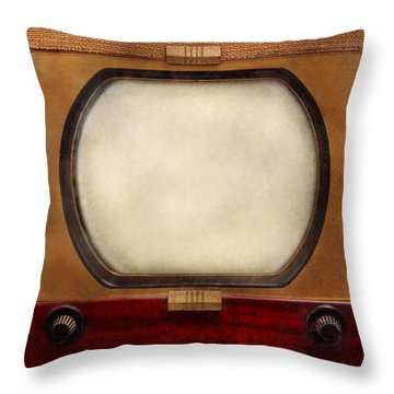 Americana - Tv - The Boob Tube Throw Pillow by Mike Savad