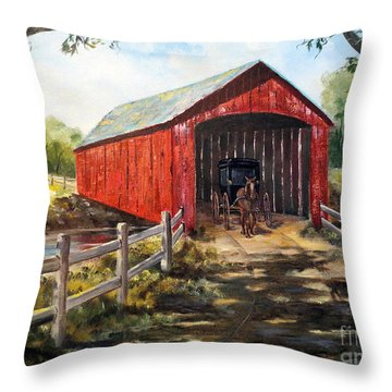 Amish Country Throw Pillow by Lee Piper