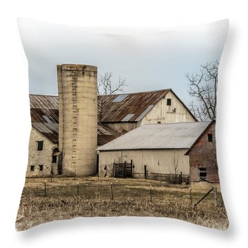 Amish Farm In Etheridge Tennessee Usa Throw Pillow by Kathy Clark