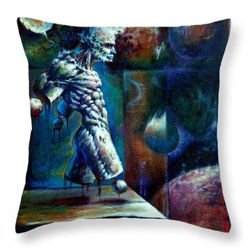 Amputee Throw Pillow by David Bollt