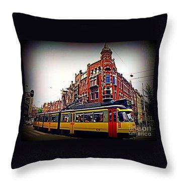 Amsterdam Transportation Throw Pillow by John Malone