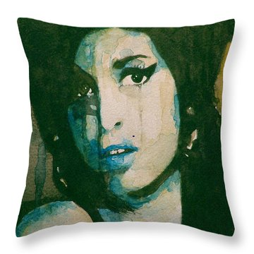 Amy Throw Pillow by Paul Lovering