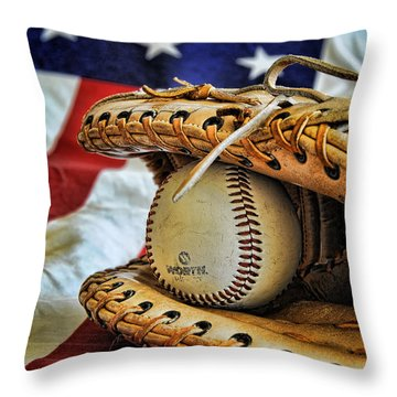 An American Tradition Throw Pillow by Kenny Francis