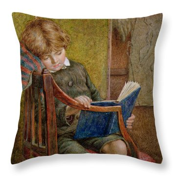 An Artists Son Throw Pillow by Charles James Adams