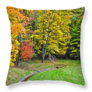 An Autumn Childhood Throw Pillow by Frozen in Time Fine Art Photography