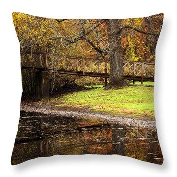 An Autumns Moment Throw Pillow by Karol Livote