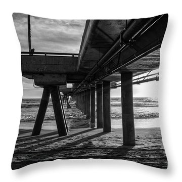 An Evening At Venice Beach Pier Throw Pillow by Ana V Ramirez