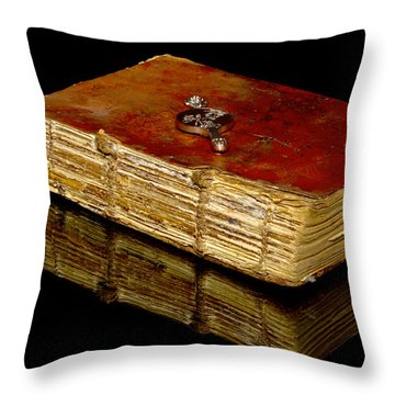 An Old Bible Throw Pillow by Toppart Sweden