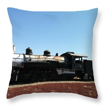 An Old Engine Throw Pillow by Jeff Swan