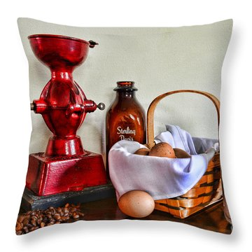 An Old Fashion Breakfast Throw Pillow by Paul Ward
