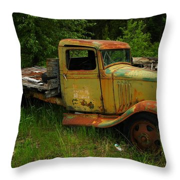 An Old Flatbed Throw Pillow by Jeff Swan