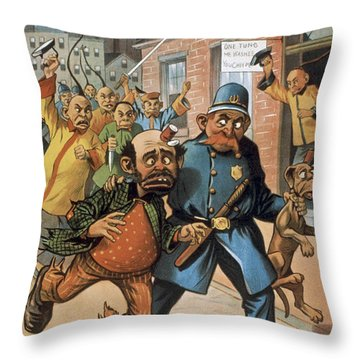 An Uprising In China Throw Pillow by Aged Pixel