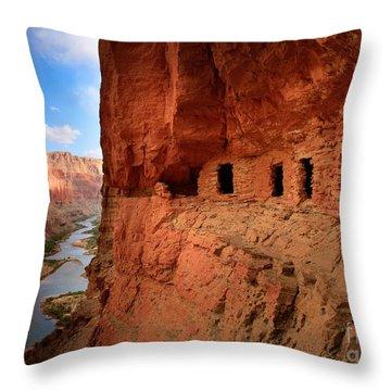Anasazi Granaries Throw Pillow by Inge Johnsson