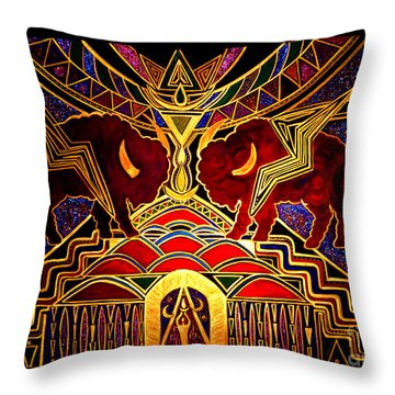 Ancestral Invocation Throw Pillow by Susanne Still