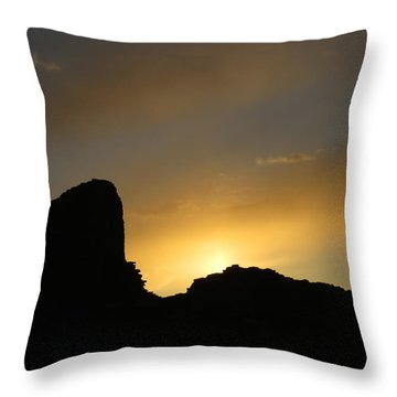 Ancient Walls Against The Sunset Throw Pillow by Feva  Fotos