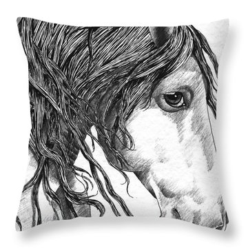 Andalusian Horse Throw Pillow by Kate Black